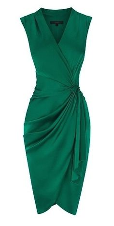 Ruched dress-emerald green