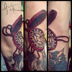 My second tattoo work.  #tattoo #ink #tattooed #bodymodification #compass #compasstattoo #vintage #inked