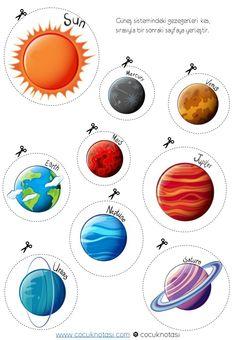 Planets Preschool, Learning Numbers Preschool, Preschool Lessons, Preschool Crafts, Crafts For Kids, Space Activities For Kids, Infant Activities, Science Experiments Kids, Science Activities