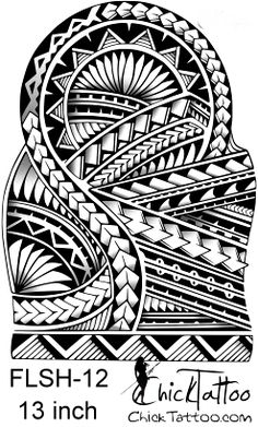 Polynesian Style 1/2 Sleeve Flash Design