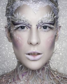 Pin by danyeil durrant on winter makeup snow queen makeup, ice queen makeup Ice Makeup, Frozen Makeup, Makeup Art, Pantomime, Costume Halloween, Halloween Makeup, Halloween Face, Snow Queen Makeup, Ice Queen Costume