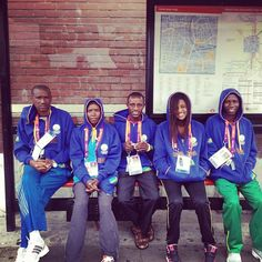 This is why I love the Olympics. Team Rwanda at my bus stop