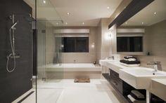 Room Ideas: Tile inspiration for bathrooms, kitchens, living rooms & Bad Inspiration, Bathroom Inspiration, Beautiful Bathrooms, Modern Bathroom, White Bathroom, Home Interior, Interior Decorating, Built In Bath, Beaumont Tiles