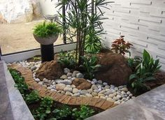 high resolution small rock garden ideas small front yard tropical landscaping ideas gardening now - Garden Design Using Rocks