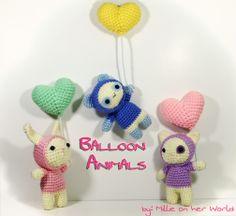 Amigurumi Balloon Animals - Tutorial ❥ 4U // hf