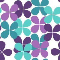 TREVOS azuis e roxo fabric by eulaliasantos on Spoonflower - custom fabric