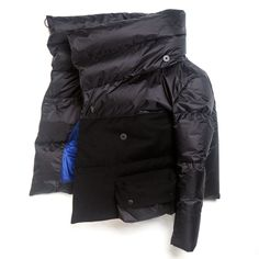 Womens Short Down Coat - Black