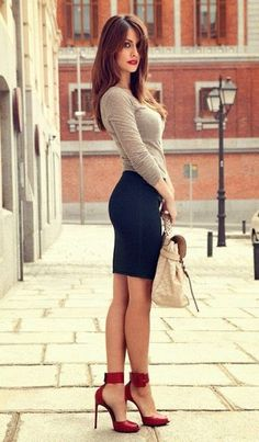 I like the shoes and skirt.  Like the entire outfit really but don't think that I would put the shirt with the skirt and shoes