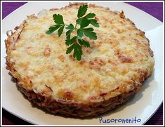 PUSORONENITO: Pastel de carne Julie's Kitchen, My Favorite Food, Favorite Recipes, I Foods, Main Dishes, Dinner Recipes, Yummy Food, Cooking, Breakfast