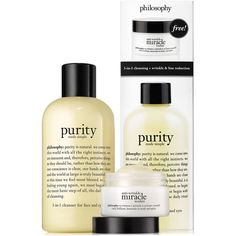 philosophy purity and anti-wrinkle miracle worker duo (32 AUD) ❤ liked on Polyvore featuring beauty products, skincare, face care, no color, philosophy skin care, philosophy skincare and anti wrinkle skin care