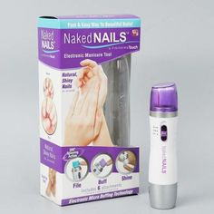 Naked Nails - Electronic Manicure Tool - The Poacher Online Manicure Tools, Nail Tools, Shiny Nails, See On Tv, Polished Look, Feet Care, Nail File, Pedi, Beauty Makeup