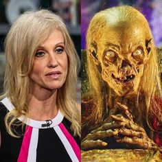 One of these is creepy, shriveled monster who takes delight in scaring people with stories of fiction; the other is the Cryptkeeper...