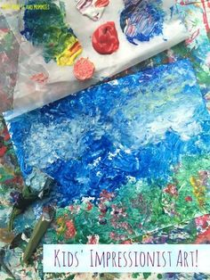 Kids' Impressionist Art Activity: Painting Without a Brush! Use plants to make paintbrushes, creating a crafty …