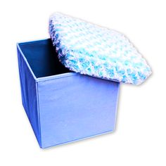 fuzzy storage ottoman - organization & storage - room | Five Below $5