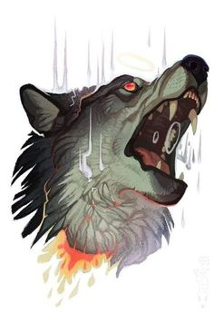 22 Trendy Ideas For Tattoo Animal Wolf Werewolves Anime Wolf, Animal Drawings, Art Drawings, Illustration Art, Illustrations, Guache, Wow Art, Animal Tattoos, Creature Design