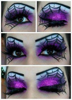 Beautiful eye makeup for Halloween