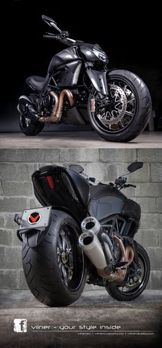 The Bulgarian workshop Vilner turns its attention to the #Ducati Diavel. Pretty wild ...
