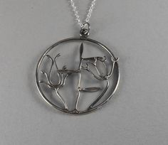 Hedgerow  sterling silver pendant. by MushroomDesign on Etsy