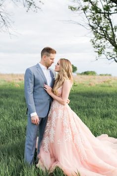 Nikki Ferrel in a blush Marlo Ford gown: http://www.stylemepretty.com/2016/05/10/see-it-here-first-nikki-ferrel-from-the-bachelor-engagement-session/ | Photography: Alea Lovely - http://www.alealovely.com/