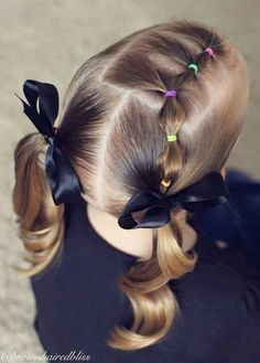 cute pigtail style from Brown Haired Bliss