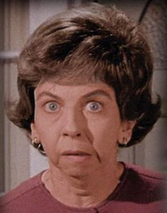 """Mrs. Kravitz! From """"Bewitched."""" Everybody has a nosy neighbor."""