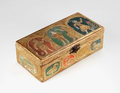 Box by Charles Prendergast  ca. 1932 at Williams College Museum of Art. The decorative motifs that Charles used gives the object a primitive or folk art appearance.