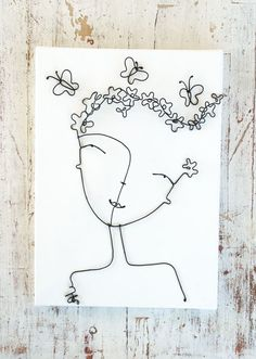 Wire spring Girl  #wire