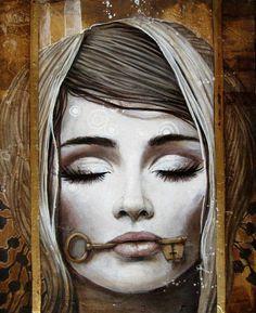 DiffuseArt - Artwork : Omaelle by Sophie Wilkins Art Visage, L'art Du Portrait, Canadian Painters, Magic Realism, Inspiration Art, Art Et Illustration, Surreal Art, Face Art, Oeuvre D'art