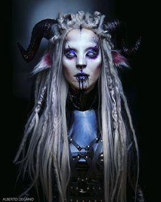 Faun Makeup, Demon Makeup, Alien Makeup, Witch Makeup, Sfx Makeup, Cosplay Makeup, Costume Makeup, Makeup Art, Faun Costume
