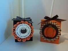 halloween candy card holder ideas pinterest   two... Used the Sizzix/SU Two Tags die to make two Tootsie Pop holders ...