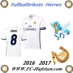 Neue Fussball Trikots Real Madrid Weiß (KROOS 8) Heim Saison 2016 2017 Billig