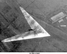 Royal Aircraft Establishment tests on Horten X to jet bomber flying wings