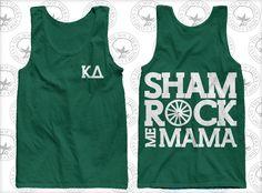 Kappa Delta Sorority Shamrock Tank, if ya'll get this, I'm gonna need one too. haha
