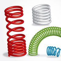 These are really good illustrations of springs. They look realistic and 3d and I though its not the most complex looking illustration, I know it still would have taken some time and energy to make it look 3d.