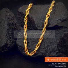 The uniquely designed gold chain . Mens Gold Jewelry, Gold Jewelry Simple, Golden Jewelry, Nautical Jewelry, Gold Chain Indian, Jewellery Shop Design, Gold Chain Design, Gold Chains For Men, Fashion Jewellery Online