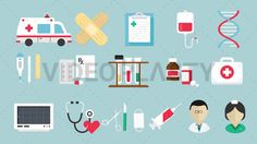 "Download: http://ift.tt/2r6zb3u  A collection of 16 different animated icons created in flat design style. Each item is also sold individually. Includes:  - Ambulance - Band Aid - Clipboard - DNA - Doctor - First Aid Kit - Heart Rate Monitor - IV Bag - Medical Nurse - Medicine Bottle - Stethoscope - Surgical Tools - Syringe - Tablets - Test Tubes - Thermometer  Three version are included for each item: ""in/out"" ""loop"" and ""in"" (can be extended with the loop version)  Clip Length: 10 seconds…"