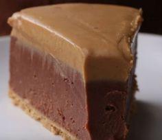 Cheesecake με σοκολάτα και φυστικοβούτυρο χωρίς ψήσιμο