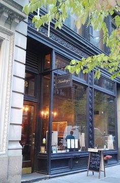 this seems fitting for APOHIK. maybe a bit to gothic but the tall windows and simple signage are nice. Cool Places To Visit, Places To Travel, Places To Go, Nyc Coffee Shop, Coffee Shops, City Of Blinding Lights, Cheap Coffee Mugs, Brunch Nyc, Coffee Machines For Sale