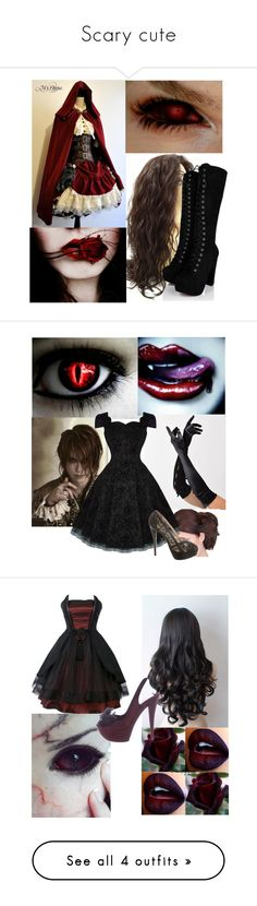 """""""Scary cute"""" by cupcake-kitty69 ❤ liked on Polyvore featuring SpyLoveBuy, Bettie Page, Charlotte Olympia and Casadei"""