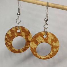 Alder #earrings #woodearrings