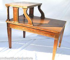 ANTIQUE Vintage 1950's Mid Century Modern MERSMAN MAHOGANY 2 Tier End Table 7640