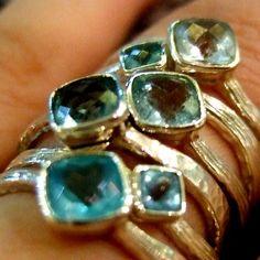 Blue rings. so pretty