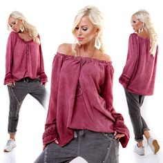 Italian Wine Top Lace Frills Long Sleeve One Size Blouse European Fashion, Unique Fashion, Timeless Fashion, Womens Fashion, Cable Knit Sweaters, Lace Tops, Casual Looks, Looks Great, Knitwear