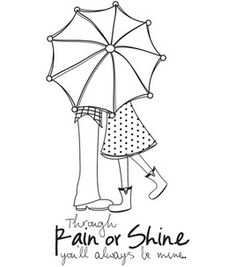Itty Bitty Unmounted Rubber Stamp-Rain Or Shine: stamps: stamping: scrapbooking: Shop | Joann.com