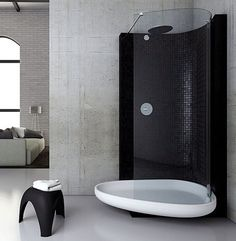 i think this is an interesting idea for a shower.
