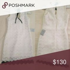 Dress Authentic Dress the population White lace with black trim dress. Perfect for a cocktail party, first date or even a wedding or xmas party. Dress the Population Dresses Midi