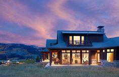 Vue nocturne de cette belle résidence secondaire
