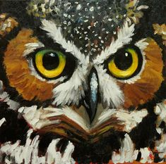 Owl painting by RozArt,...Love...