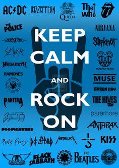 Keep Calm and Rock On -Poster- by tazerguy.deviantart.com on @deviantART