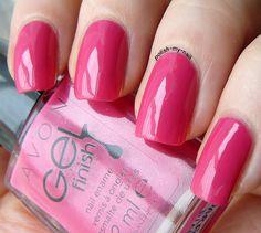 avon gel finish parfait pink